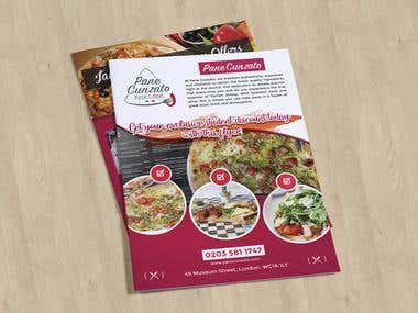 A Restaurant Membership Flyer