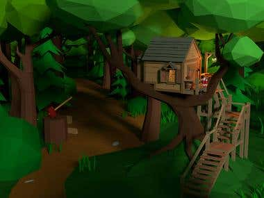Low-Poly lumberjack's house