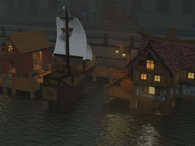Low-Poly Old Port