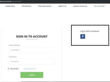 Adding Facebook Login feature in Wordpress website