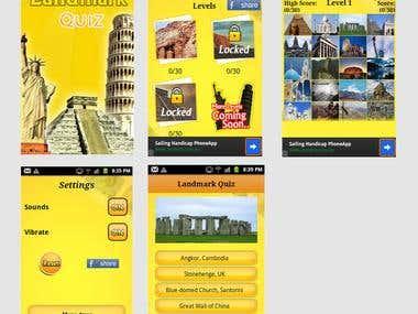 Landmark Game App Design