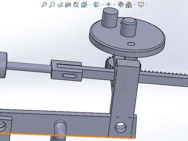 some parts from binding machine with SolidWorks