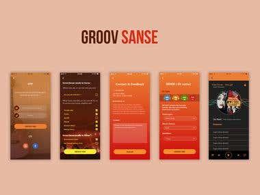 Groov Music App UI/UX
