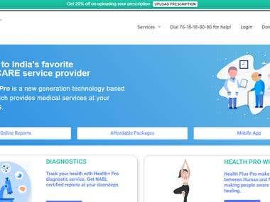 Health+ Pro Website