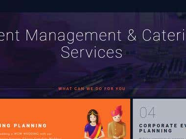 Event Management & Catering Company Website