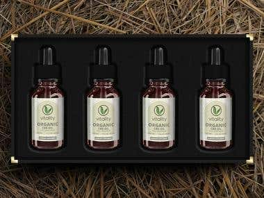 Branding & Visual Identity: Vitality range of CDB extracts