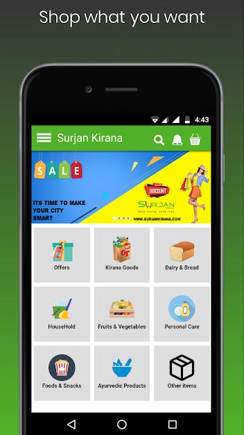 Surjan Kirana - Android Shopping App