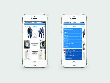 MAVI JEANS - Mobile Interface Design