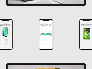 nJoy Landing page and Box design for Theia 10 Tablet