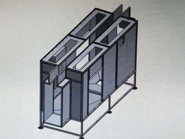 Powder Coating Booths and Heat Exchanger Shell