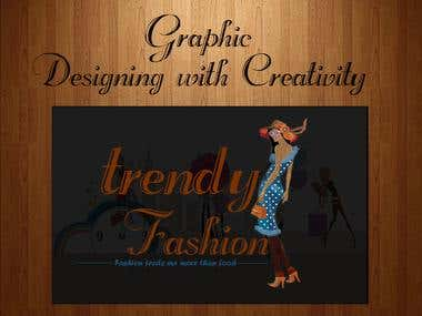 Trendy fashion logo