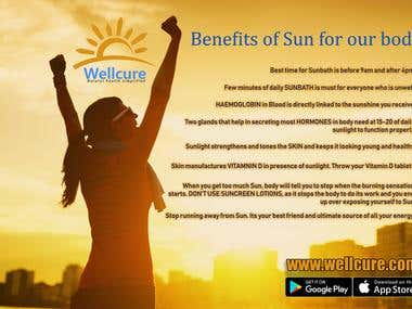 Benefits of Sun for Natural Health - Poster Design