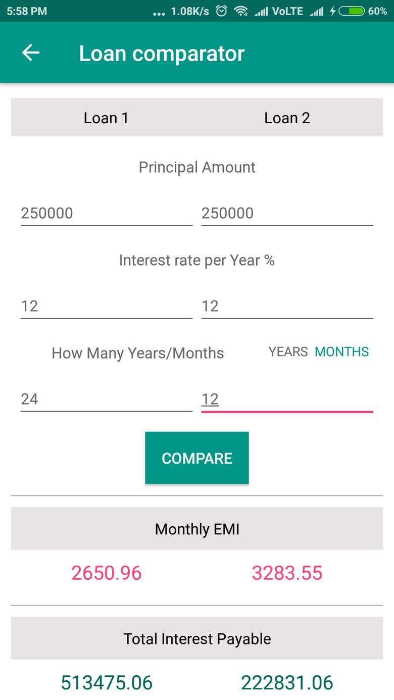 Emi Calculator Freelancer