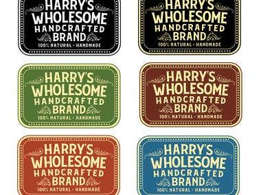Harry's Wholesome Handmade Brand - Logo & Package Design