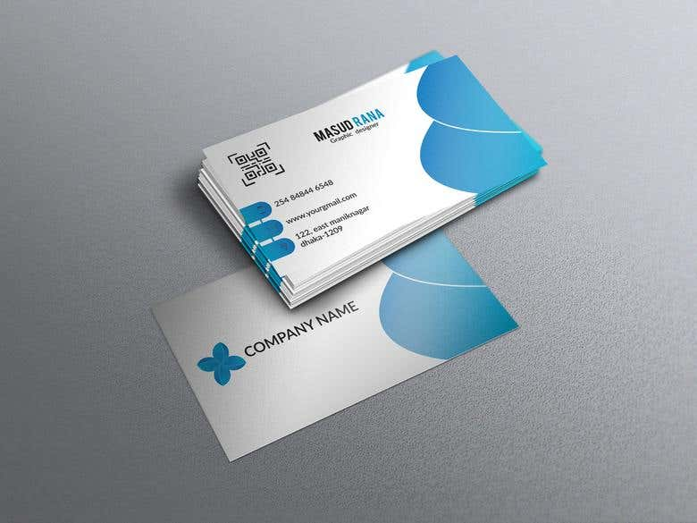 blue, business, business card, card design, clean style, cor