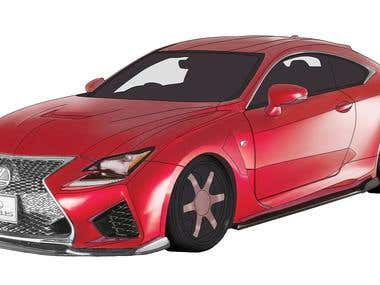 Car Illustration and painting