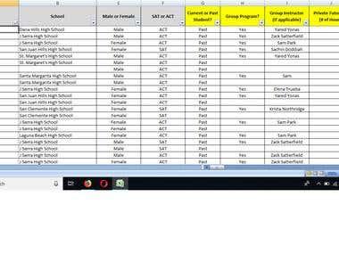 Database Compilation