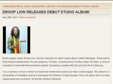 Droop Lion - Ideologies