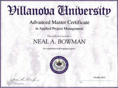 Advanced Master Certificate