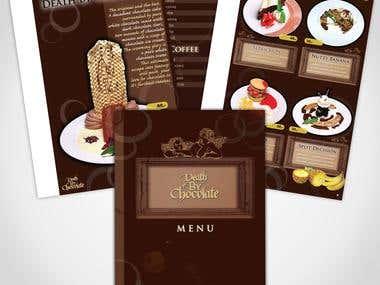 Menu Book Design for Chocolate Cafe
