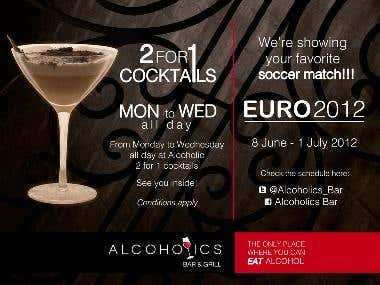 Banner Design for Alcoholic Bar
