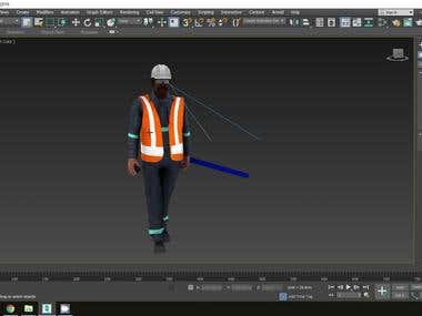 From Model to Texture, Rig And Animation Using 3D Max