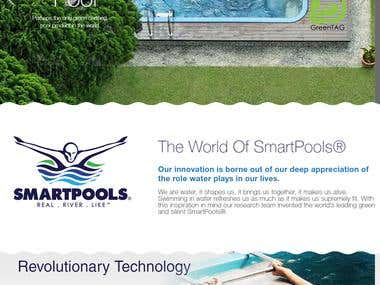 Website for a swimming pool company in wordpress