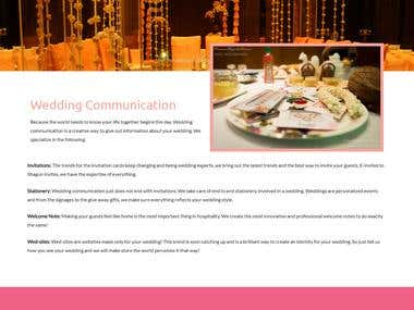 Wordpress Based Wedding Planner Website