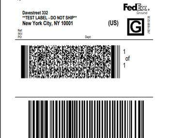 FedEx - API Shipping Label Generator