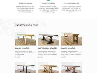 Under The Table Christmas Landing Page