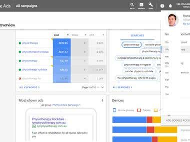 Google Ads Accounts management