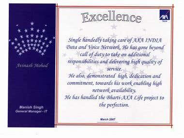 AXA Tech Certificate
