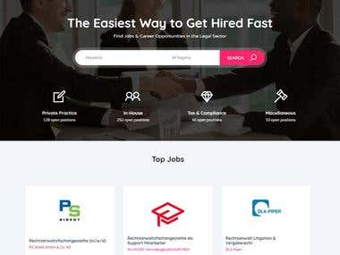 Job Site for a Legal Sector using WordPress (pinclegal.com)