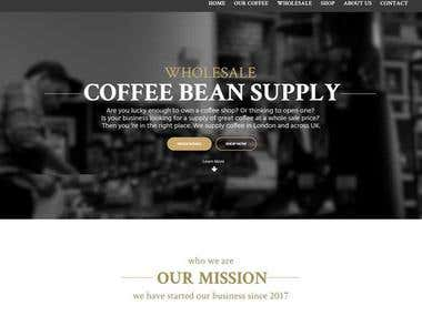 WordPress Site to Sell Coffee Beans