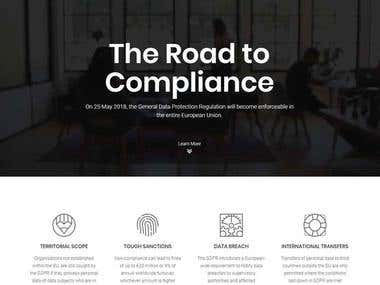 Website for GDPR Advisory Consulting Company