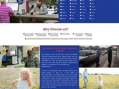 Auto Repair PSD Template Design