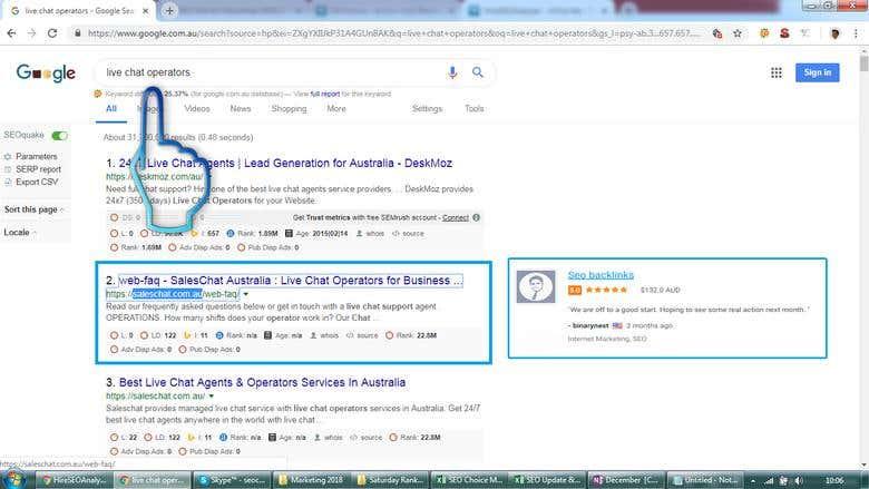 Top 2 Rank in Google com au | Freelancer