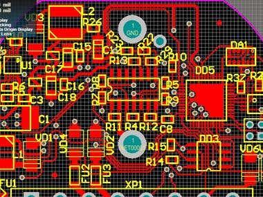 Fuel level sensor PCB