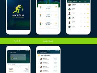Fantasy Cricket App Design