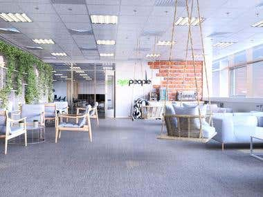 Bright office design
