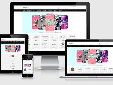 Mobile Case Website in Shopify