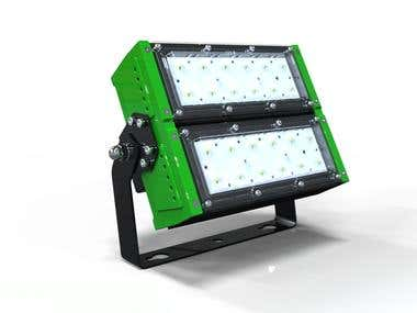 3D Renderings for the Modular LED Floodlights