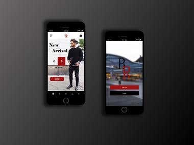 StoreOnline Mobile Design