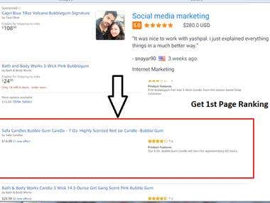 Get 1st Page Ranking on Amazon.com
