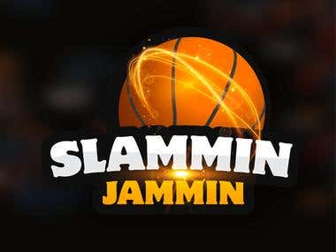 Basket Ball Game Logo