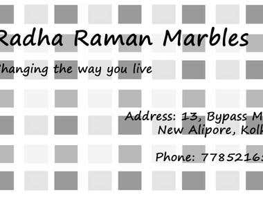 Business Card for Marble Dealer