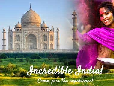 Incredible India poster created to showcase diversity
