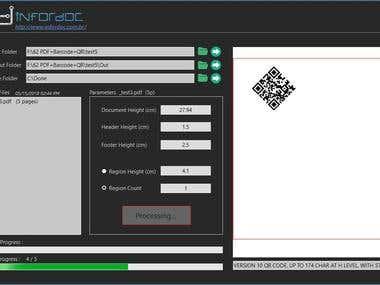 PDF manipulation + Bar code + QR Code