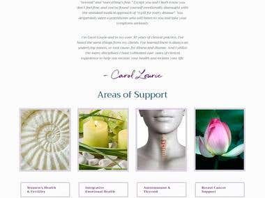Website & Store for Carol Lourie - carollourie.com