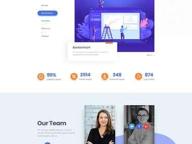 Web UI/UX Design.